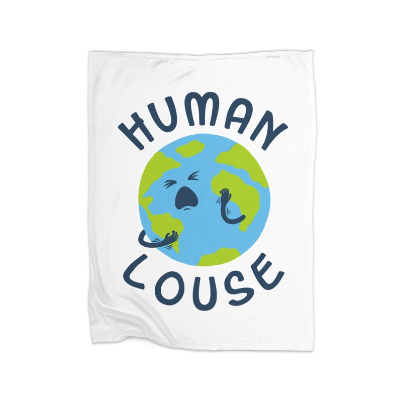 Human louse Home Blanket by stereomode's Artist Shop