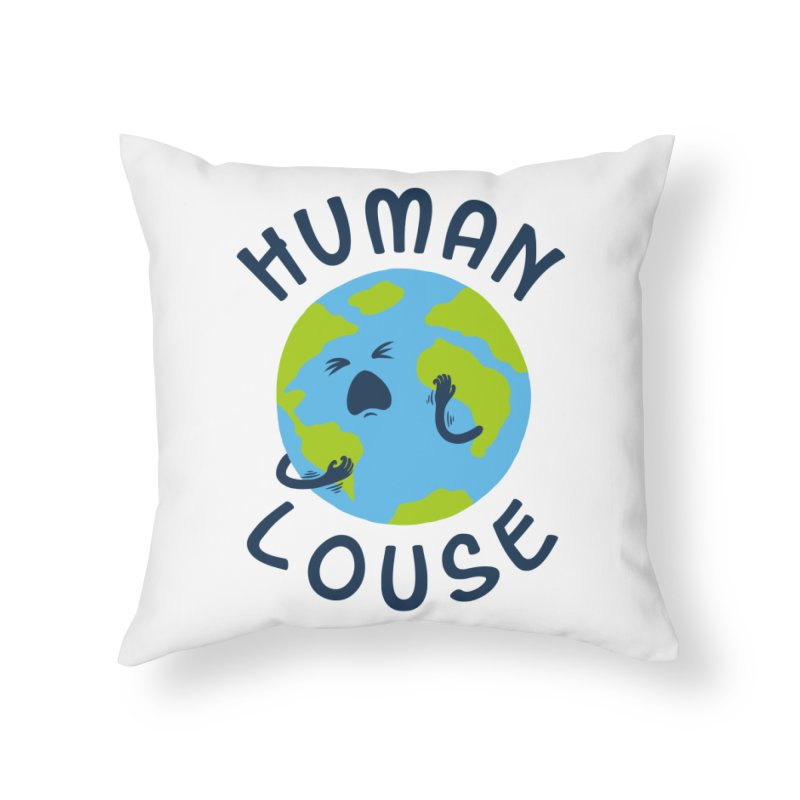 Human louse Home Throw Pillow by stereomode's Artist Shop