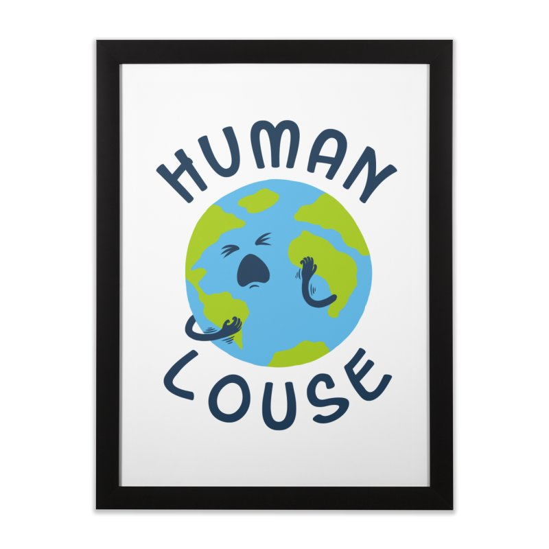 Human louse Home Framed Fine Art Print by stereomode's Artist Shop