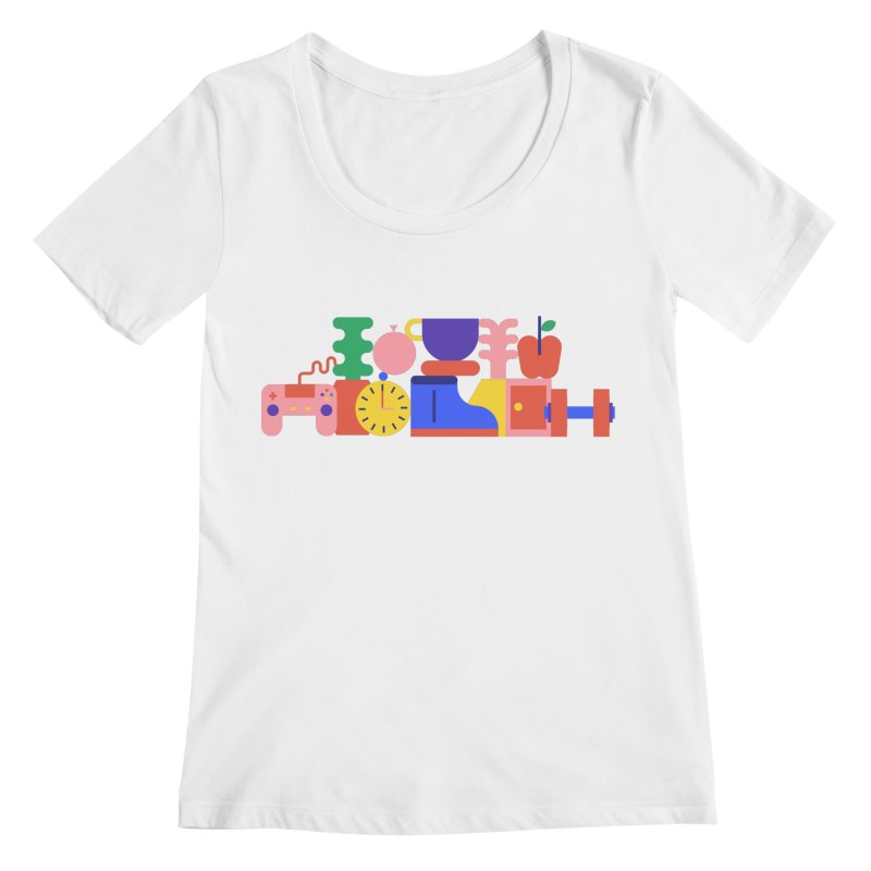 Daily inspiration Women's Scoopneck by stereoplastika's Artist Shop