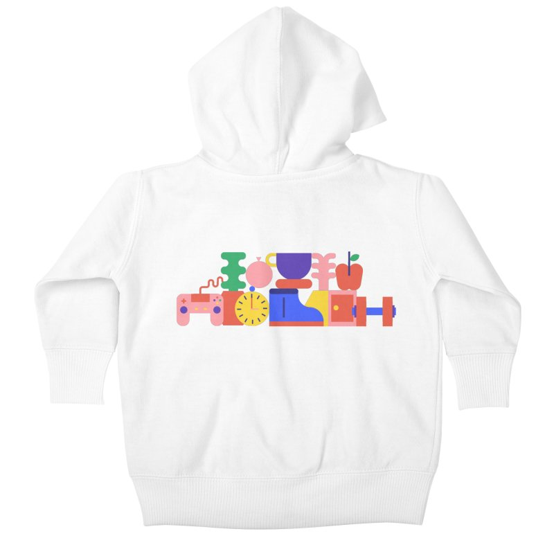 Daily inspiration Kids Baby Zip-Up Hoody by stereoplastika's Artist Shop