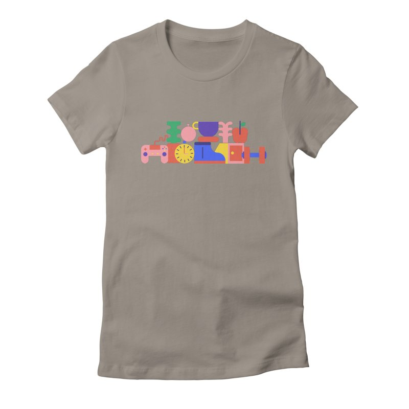 Daily inspiration Women's Fitted T-Shirt by stereoplastika's Artist Shop