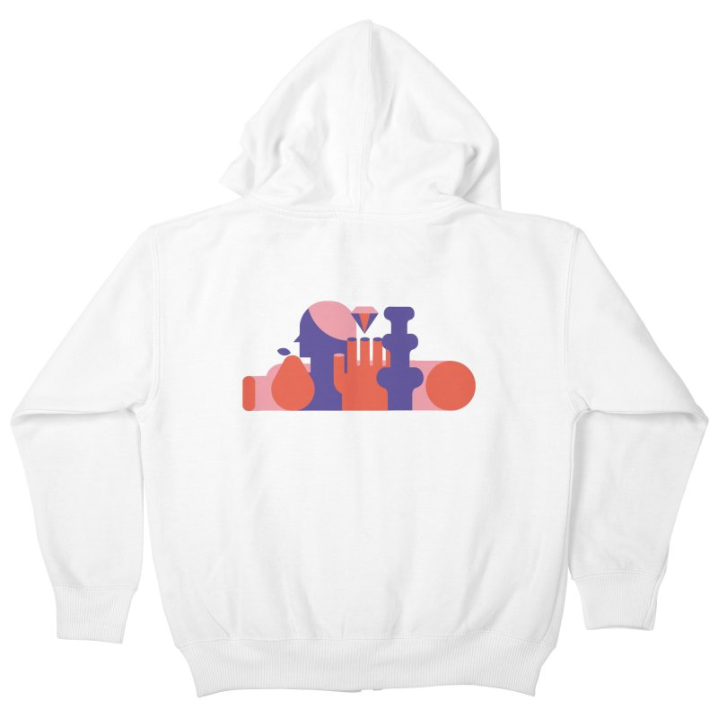 Still Life Kids Zip-Up Hoody by stereoplastika's Artist Shop