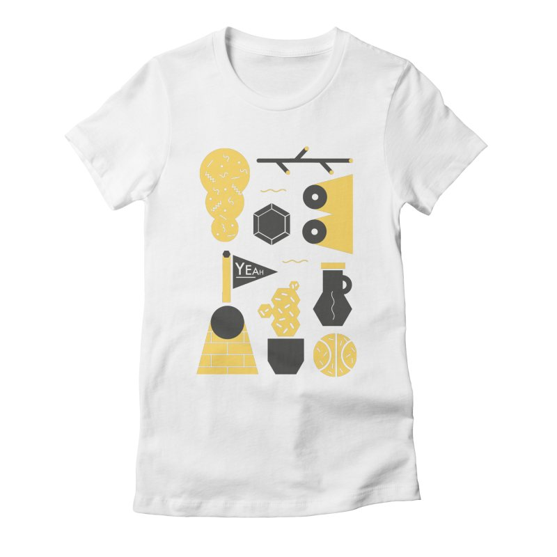 Yeah! Women's Fitted T-Shirt by stereoplastika's Artist Shop