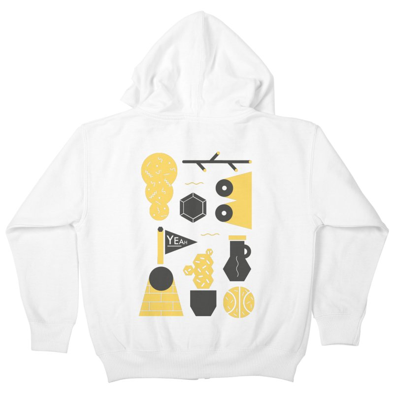 Yeah! Kids Zip-Up Hoody by stereoplastika's Artist Shop