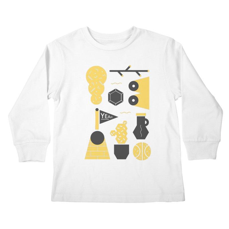 Yeah! Kids Longsleeve T-Shirt by stereoplastika's Artist Shop