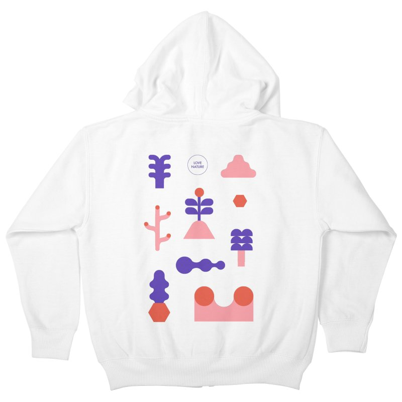 Love nature Kids Zip-Up Hoody by stereoplastika's Artist Shop