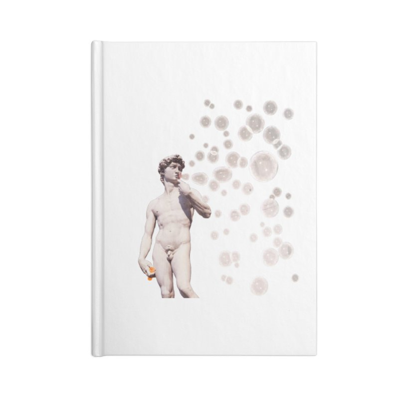 David blowing Bubbles Accessories Blank Journal Notebook by steveash's Artist Shop
