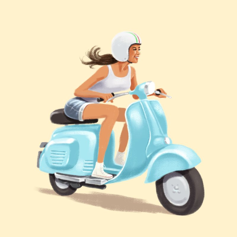 Scooter Girl by steveash's Artist Shop