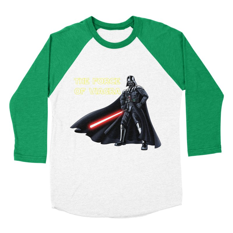 THE FORCE OF VIAGRA Women's Baseball Triblend Longsleeve T-Shirt by steveash's Artist Shop