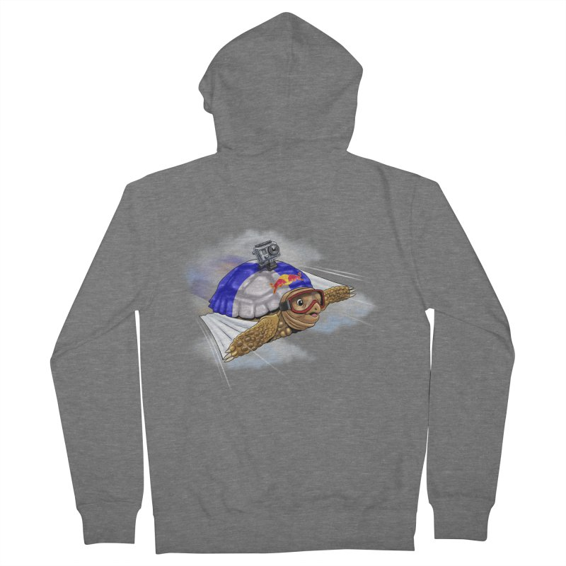 AT LAST I CAN FLY Men's French Terry Zip-Up Hoody by steveash's Artist Shop