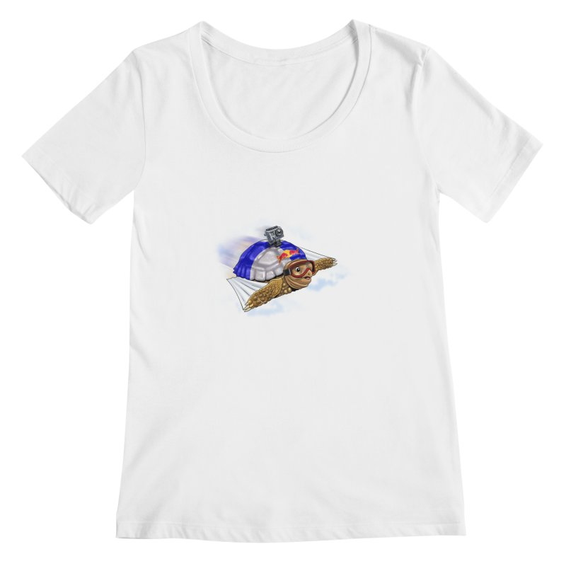 AT LAST I CAN FLY Women's Scoopneck by steveash's Artist Shop