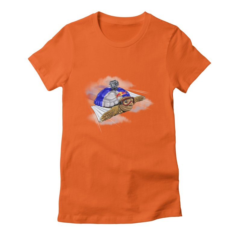 AT LAST I CAN FLY Women's Fitted T-Shirt by steveash's Artist Shop
