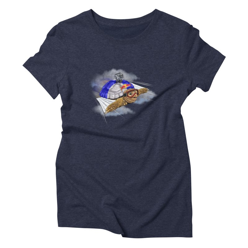 AT LAST I CAN FLY Women's Triblend T-shirt by steveash's Artist Shop