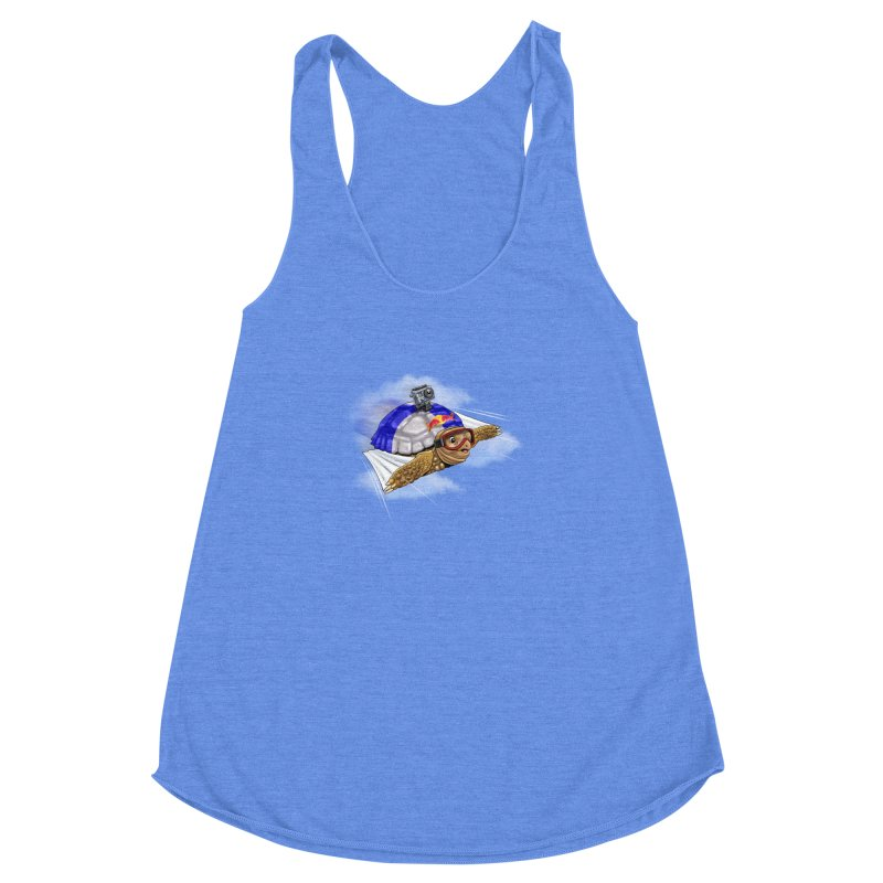 AT LAST I CAN FLY Women's Racerback Triblend Tank by steveash's Artist Shop