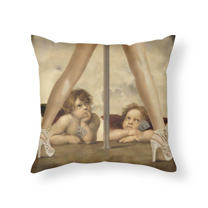 Not so Little Angels Home Throw Pillow by steveash's Artist Shop