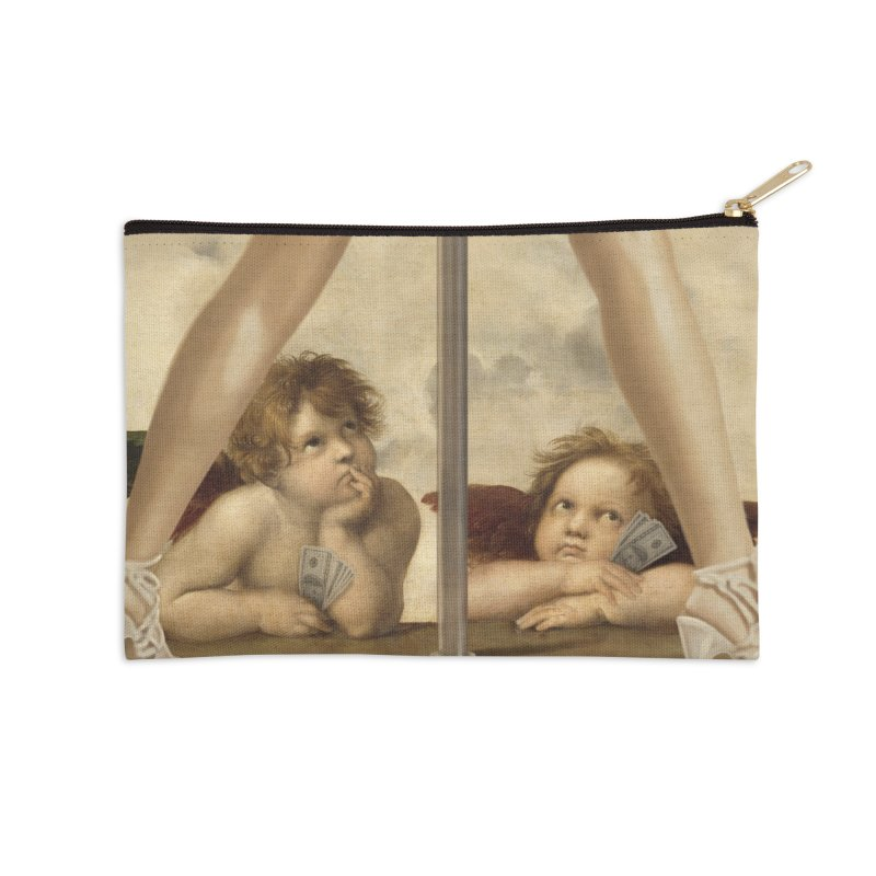 Not so Little Angels Accessories Zip Pouch by steveash's Artist Shop