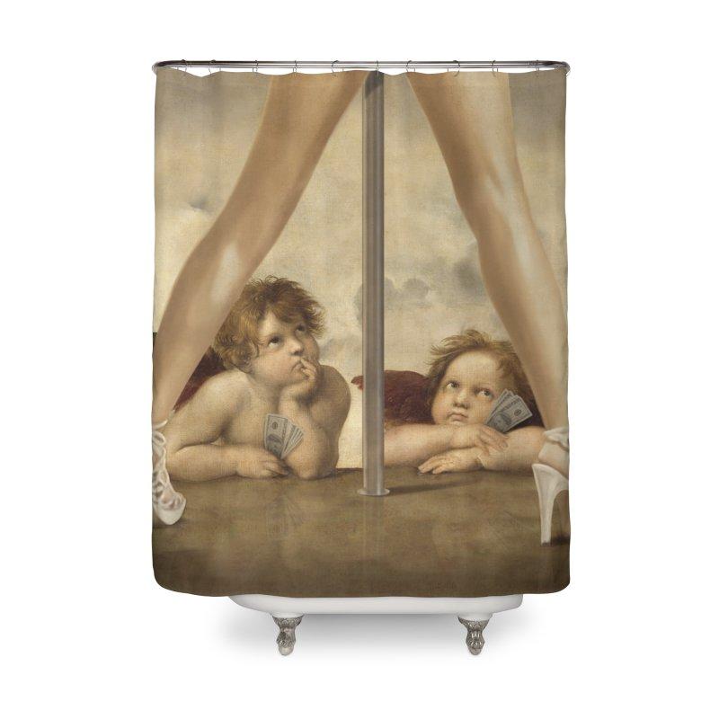 Not so Little Angels Home Shower Curtain by steveash's Artist Shop