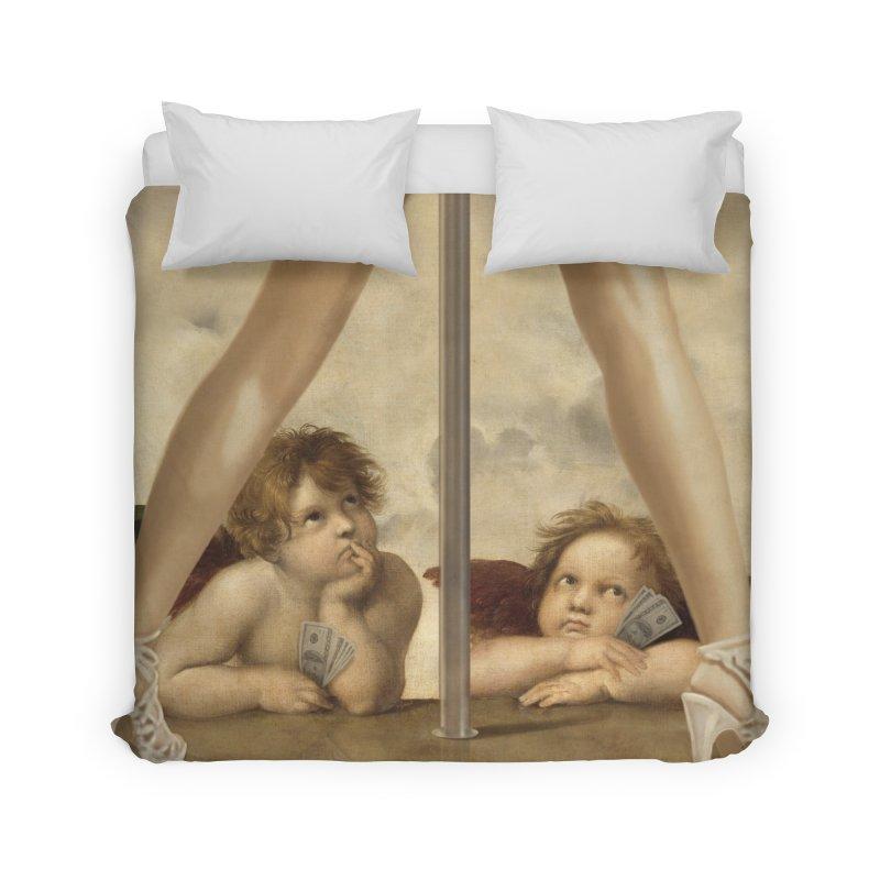 Not so Little Angels Home Duvet by steveash's Artist Shop