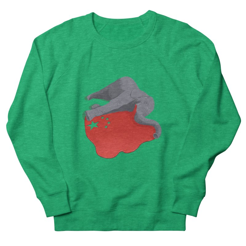 Stop Ivory Trade Men's French Terry Sweatshirt by steveash's Artist Shop