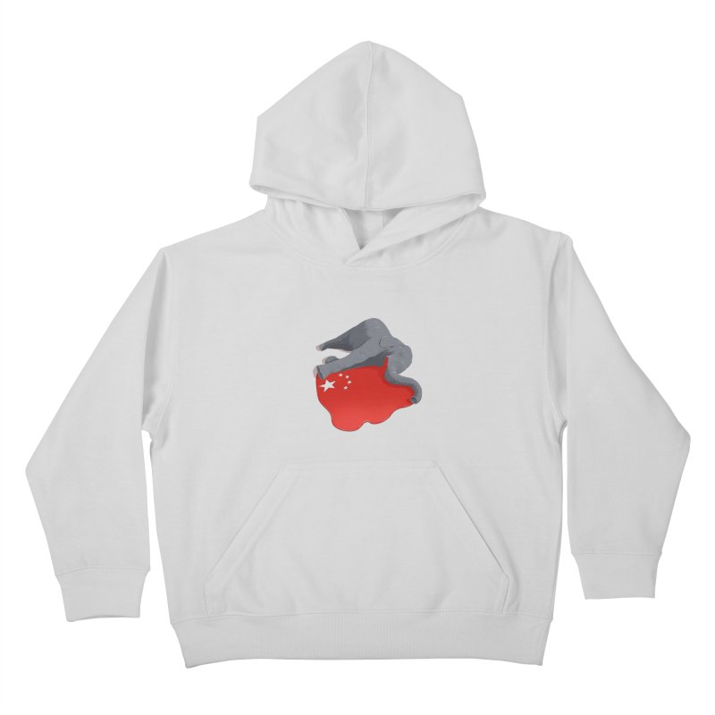Stop Ivory Trade Kids Pullover Hoody by steveash's Artist Shop