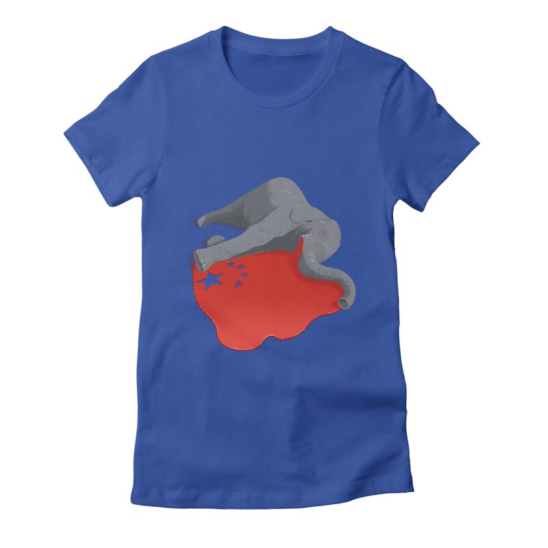 Stop Ivory Trade Women's Fitted T-Shirt by steveash's Artist Shop