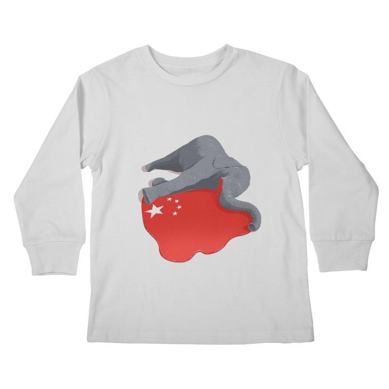 Stop Ivory Trade Kids Longsleeve T-Shirt by steveash's Artist Shop