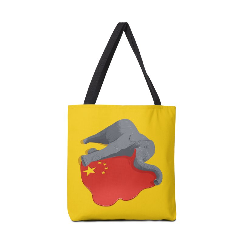 Stop Ivory Trade Accessories Bag by steveash's Artist Shop