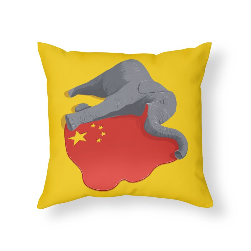 Stop Ivory Trade Home Throw Pillow by steveash's Artist Shop