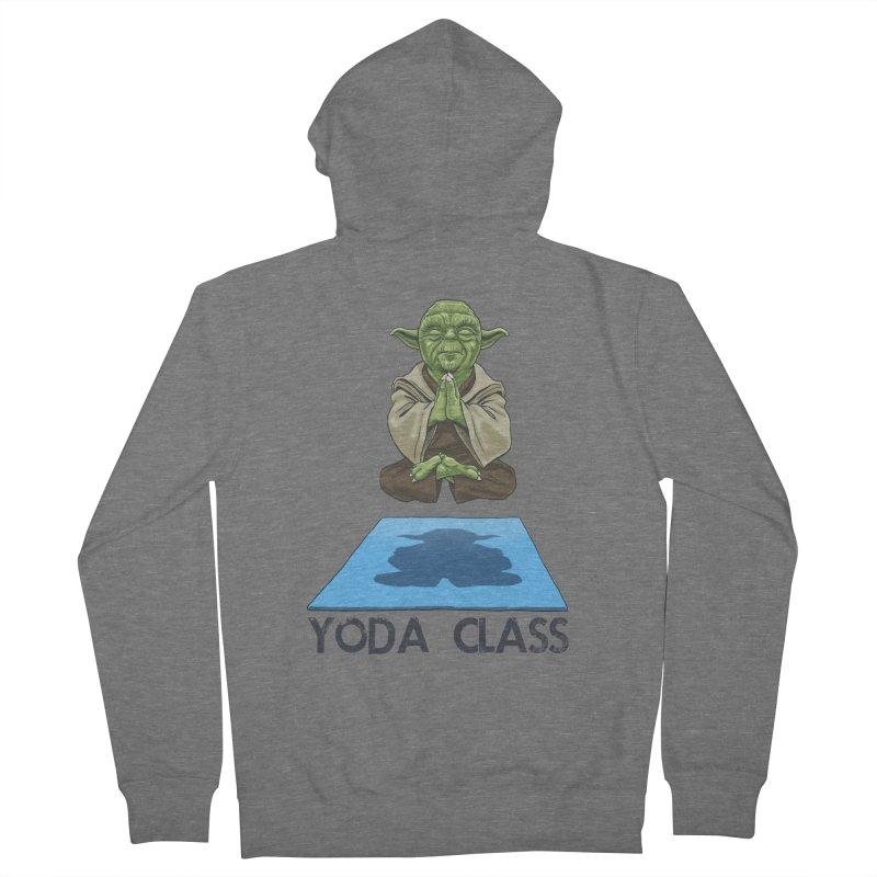 Yoda Class Men's French Terry Zip-Up Hoody by steveash's Artist Shop