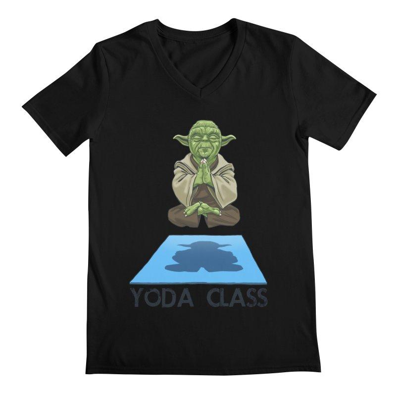 Yoda Class Men's V-Neck by steveash's Artist Shop