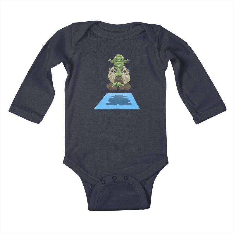 Yoda Class Kids Baby Longsleeve Bodysuit by steveash's Artist Shop