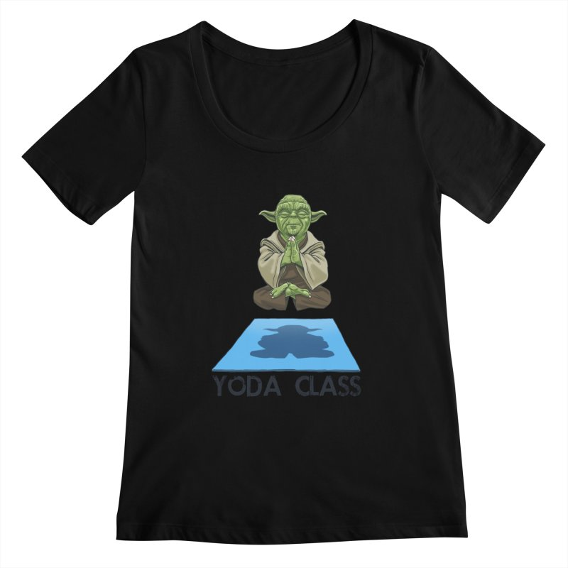 Yoda Class Women's Scoopneck by steveash's Artist Shop