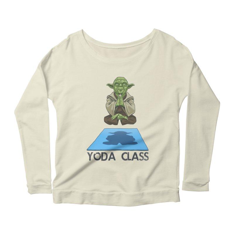 Yoda Class Women's Longsleeve Scoopneck  by steveash's Artist Shop