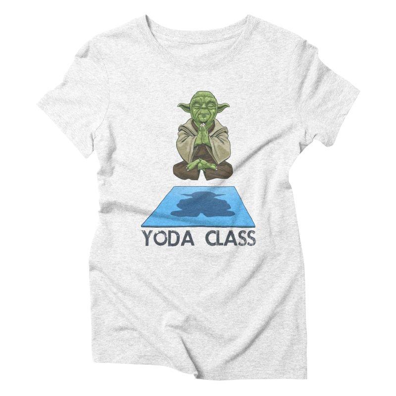 Yoda Class Women's Triblend T-shirt by steveash's Artist Shop