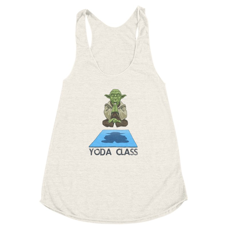 Yoda Class Women's Racerback Triblend Tank by steveash's Artist Shop