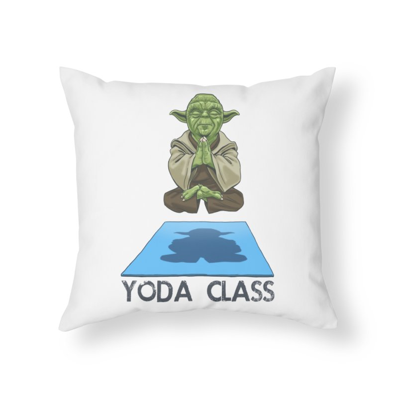 Yoda Class Home Throw Pillow by steveash's Artist Shop