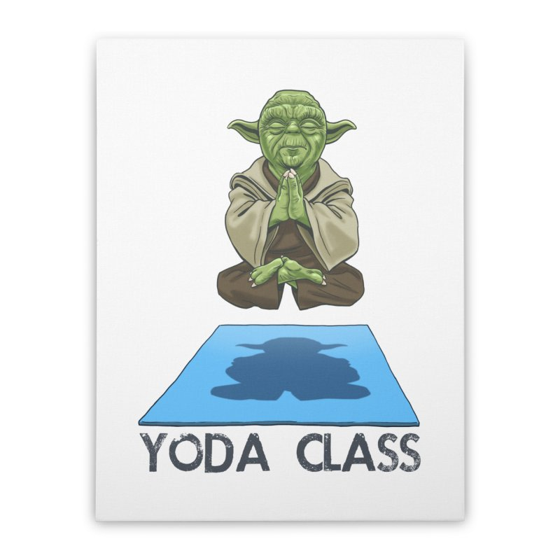 Yoda Class Home Stretched Canvas by steveash's Artist Shop