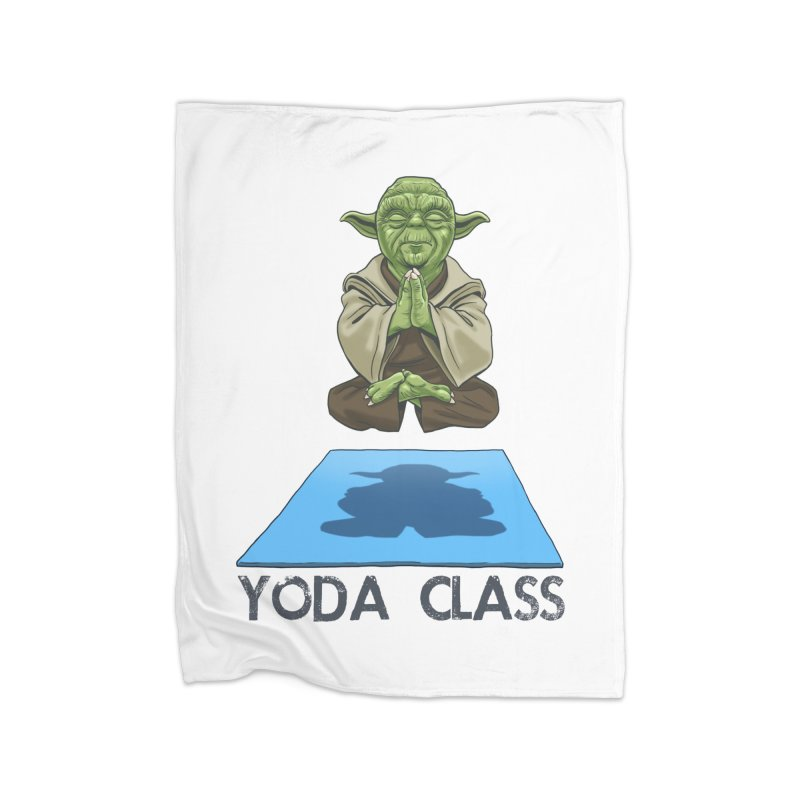 Yoda Class Home Fleece Blanket Blanket by steveash's Artist Shop