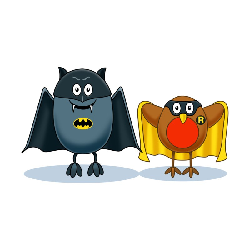 Bat and Robin None  by steveash's Artist Shop