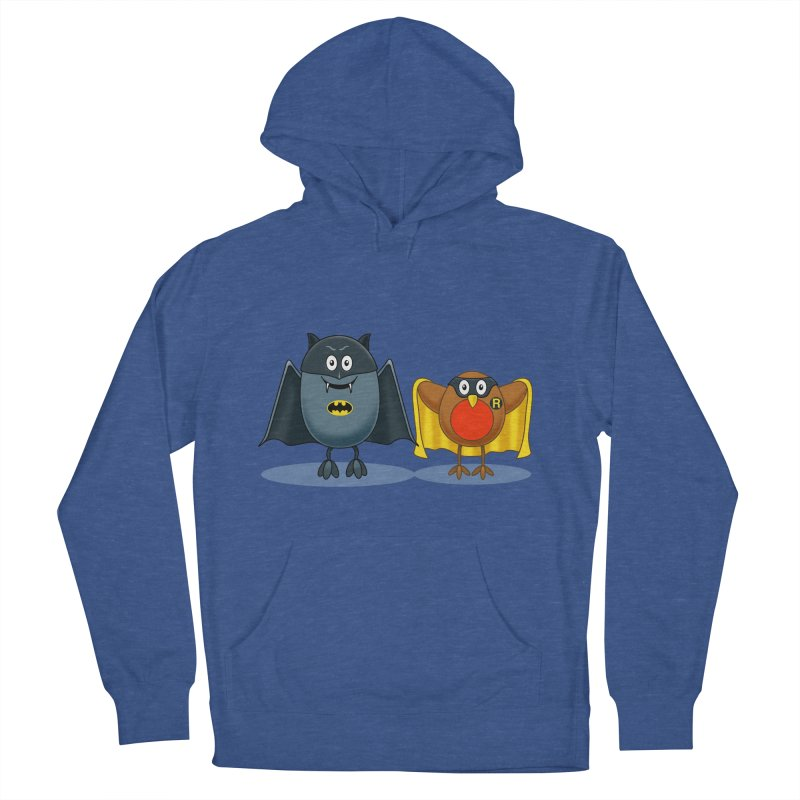 Bat and Robin Men's French Terry Pullover Hoody by steveash's Artist Shop