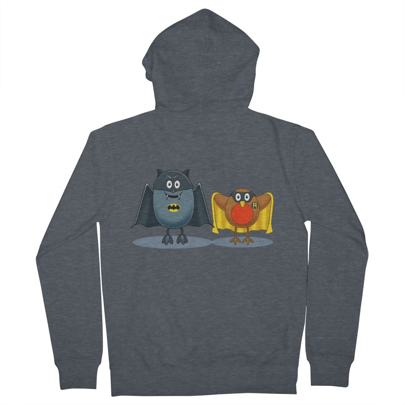 Bat and Robin Men's French Terry Zip-Up Hoody by steveash's Artist Shop