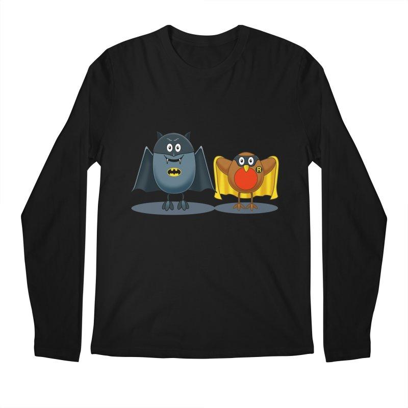 Bat and Robin Men's Regular Longsleeve T-Shirt by steveash's Artist Shop