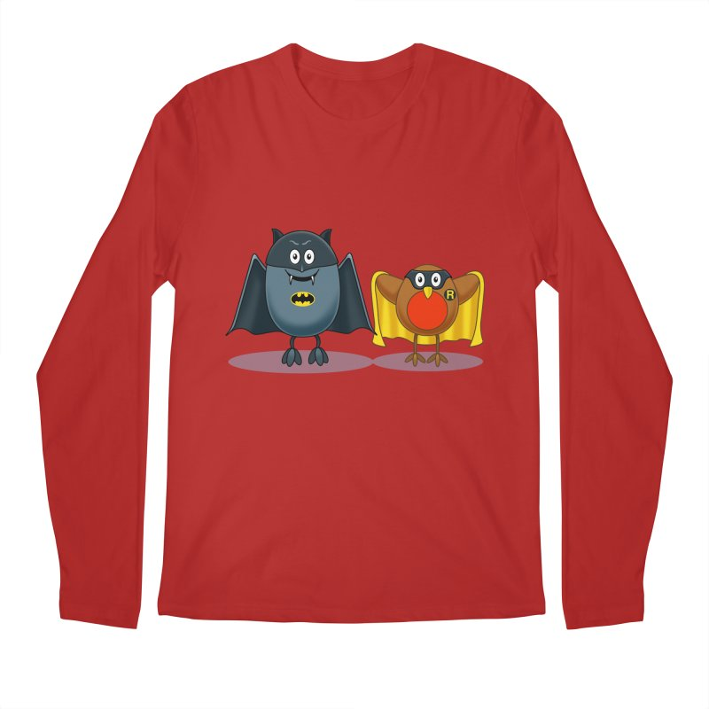 Bat and Robin Men's Longsleeve T-Shirt by steveash's Artist Shop