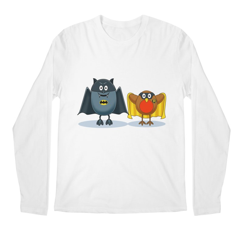 Bat and Robin Men's Longsleeve T-Shirt by steveash's Artist Shop