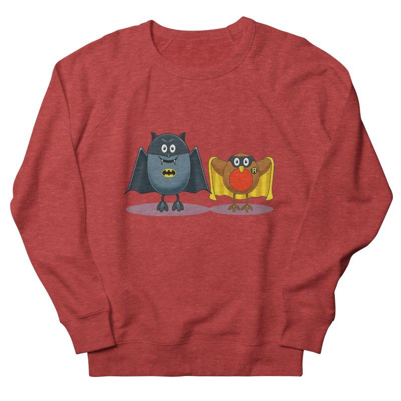 Bat and Robin Men's French Terry Sweatshirt by steveash's Artist Shop