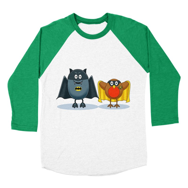 Bat and Robin Men's Baseball Triblend T-Shirt by steveash's Artist Shop