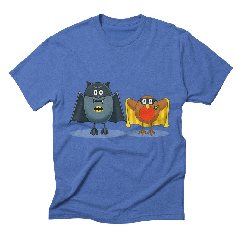 Bat and Robin Men's Triblend T-shirt by steveash's Artist Shop
