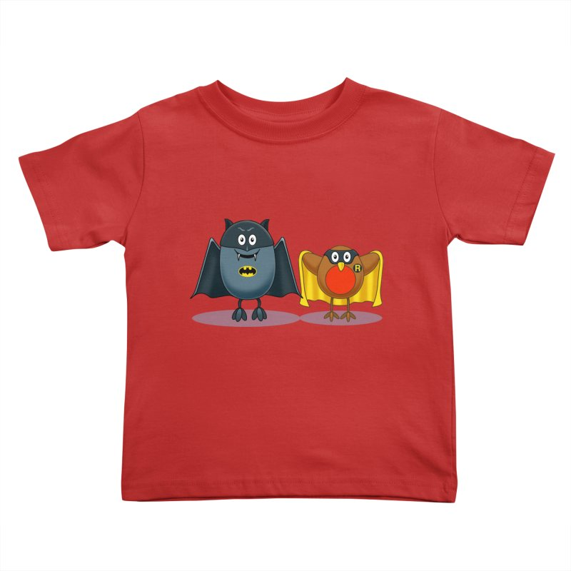 Bat and Robin Kids Toddler T-Shirt by steveash's Artist Shop