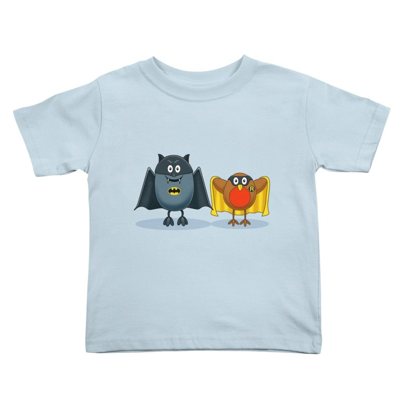 Bat and Robin Kids Toddler T-Shirt by steveash's Artist Shop